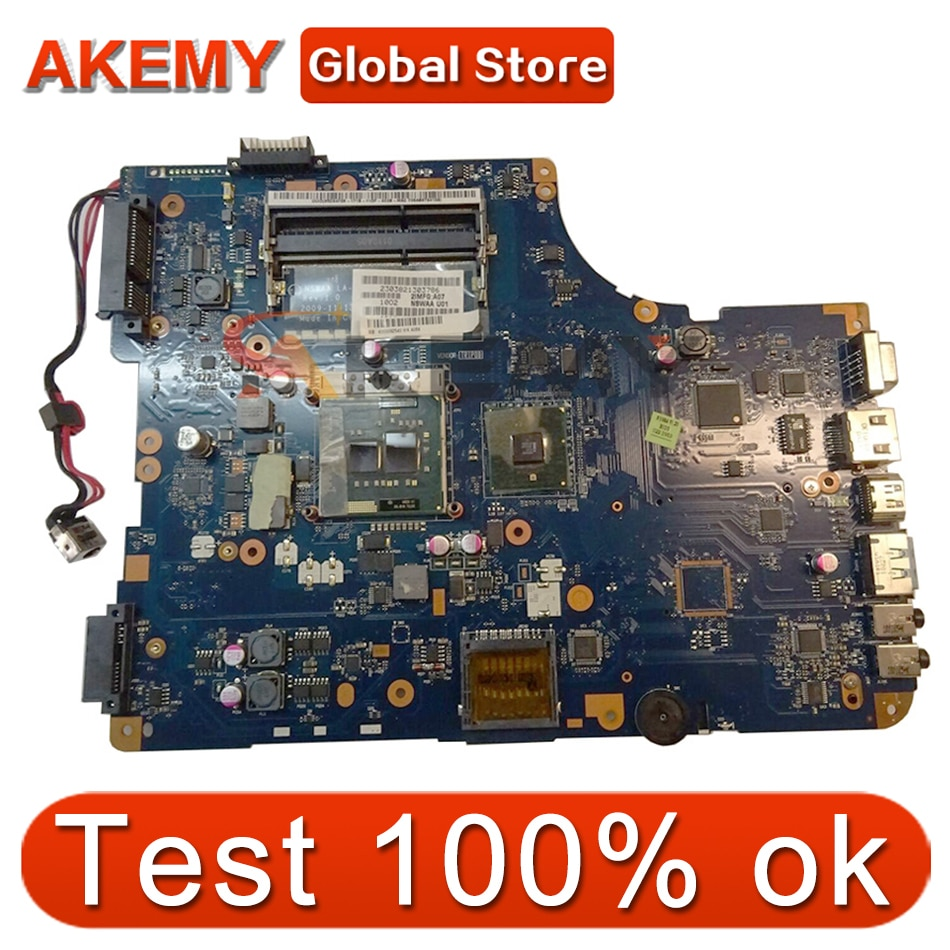 AKEMY NSWAA LA-5321P K000092540 اللوحة الأم للكمبيوتر المحمول توشيبا الأقمار الصناعية L500 اللوحة الرئيسية DDR3 الحرة وحدة المعالجة المركزية مختبرة بالكامل