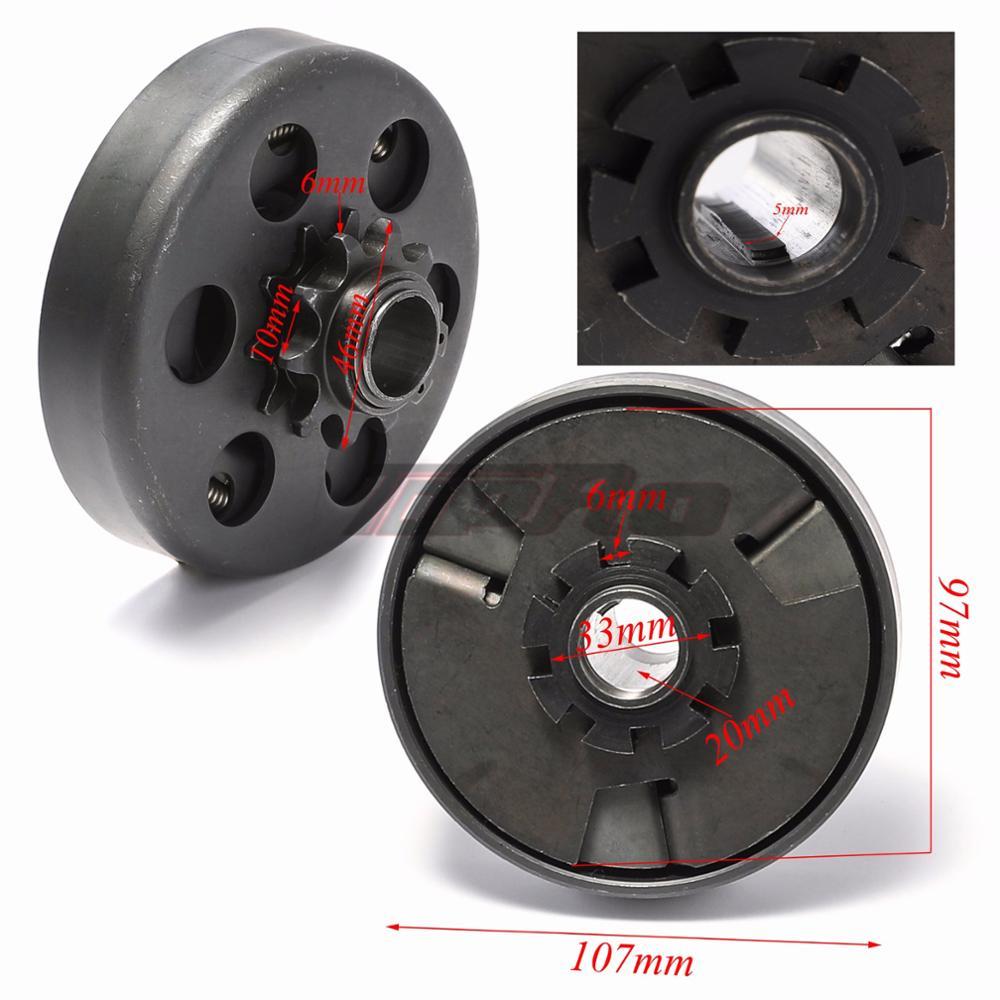 Tdpro para 420 corrente automática clutchs embreagem centrífuga 20mm 10 t para honda 7hp 170f 210cc motores go kart fun mini buggy