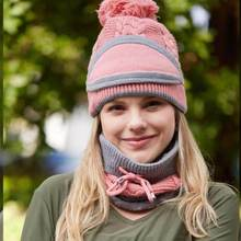 Three-piece Solid color Scarf  Hats  Set Winter  Riding Fashion Hat Warm Wool Crochet Caps Unisex Cu
