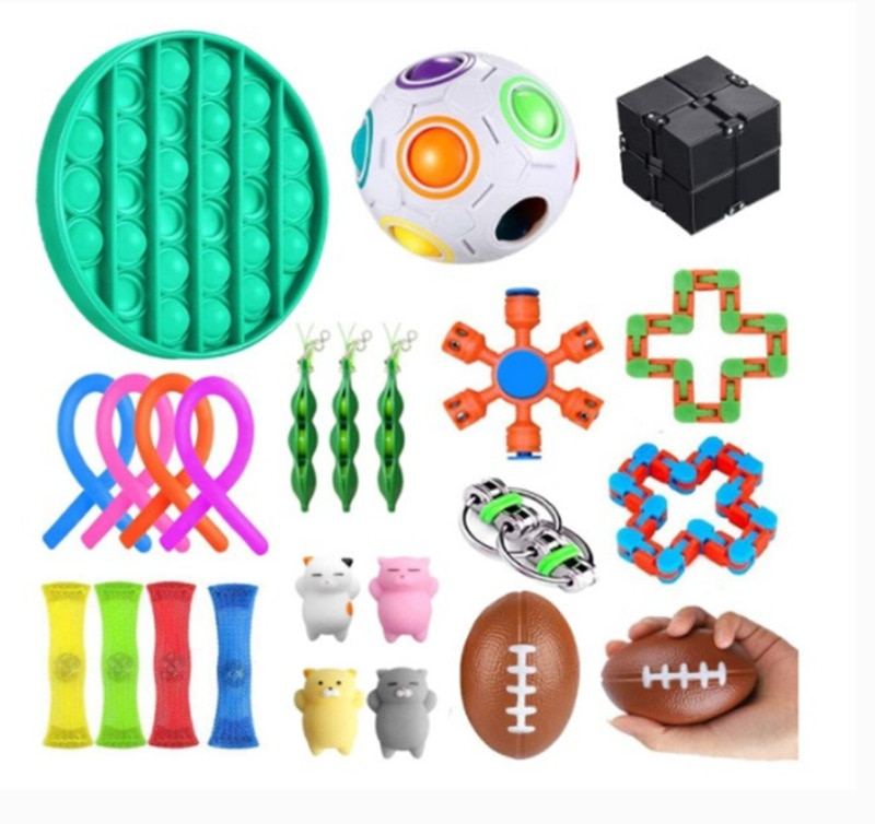 24 Pack Fidget Toys Stress Relief Toys Autism Anxiety Relief Stress Pop Bubble Fidget Sensory Decompression Toy for Kids Adults