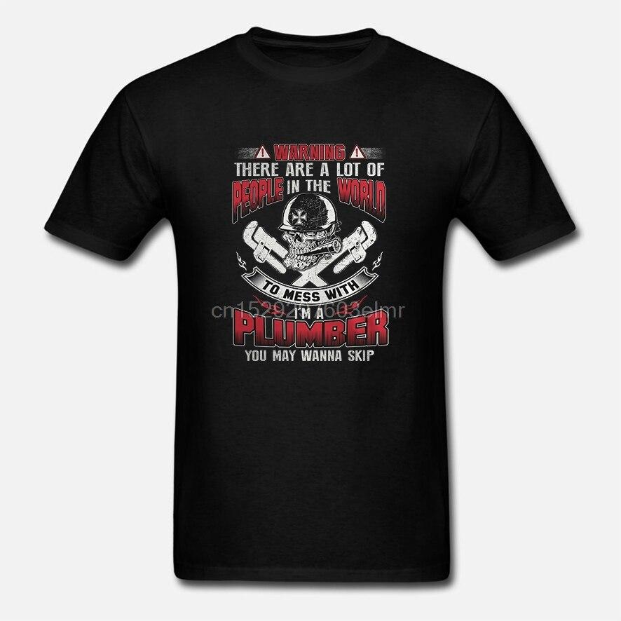 Engraçado camiseta Homens Mulheres novidade tshirt Encanador-quero esquiador fresco T-Shirt