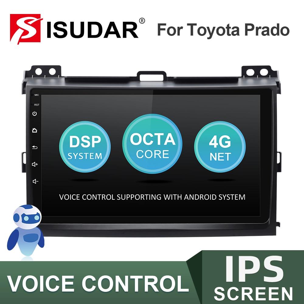 ISUDAR-راديو السيارة V57S ، Android ، GPS ، كاميرا DVR ، التحكم الصوتي ، WIFI no 2 din ، لسيارة TOYOTA/Prado J120 (2004-2009)