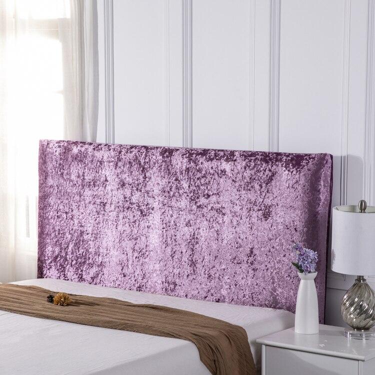 غطاء رأس سرير من جلد الغزال ، غطاء غبار مخملي على الطراز الأوروبي ، لون عادي ، مغلق بالكامل ، مرن