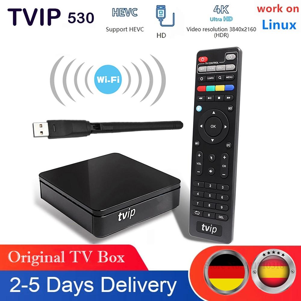 Original Tvip 530 Satellite TV receiver work on Linux OTT Set Top Box Tvip 530 S-Box USB WIFI Smart