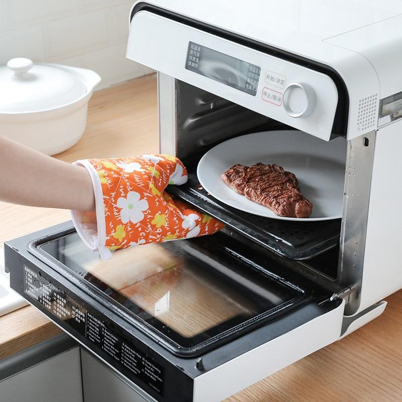 Перчатки для микроволновки, изоляционные митенки с цветочным узором для барбекю, хороший помощник для приготовления пищи на улице, для кухн...