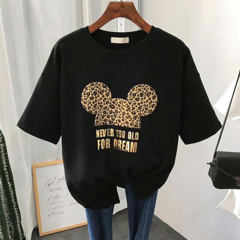 S-XL de talla grande para mujer, 22 colores, verano, camiseta para mujer,...