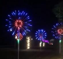 Magie LED feux dartifice lumière télécommande 12 Mode fonction étanche noël vacances fête fée décoration de réverbère
