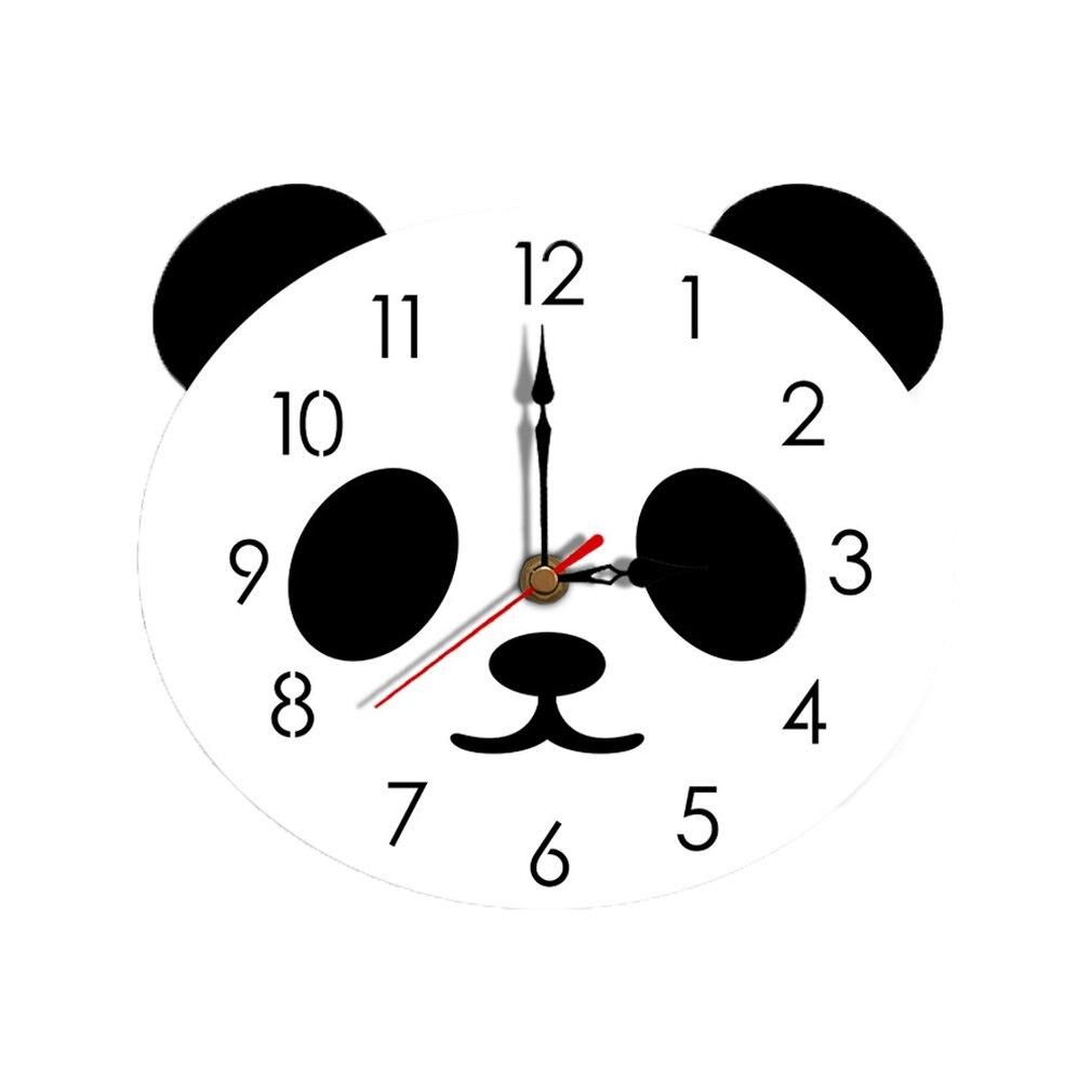 Creative Cartoon Wall Clock Acrylic Clock Panda Cute Simple Home Wall Clock Bedroom Living Room Wall Clock