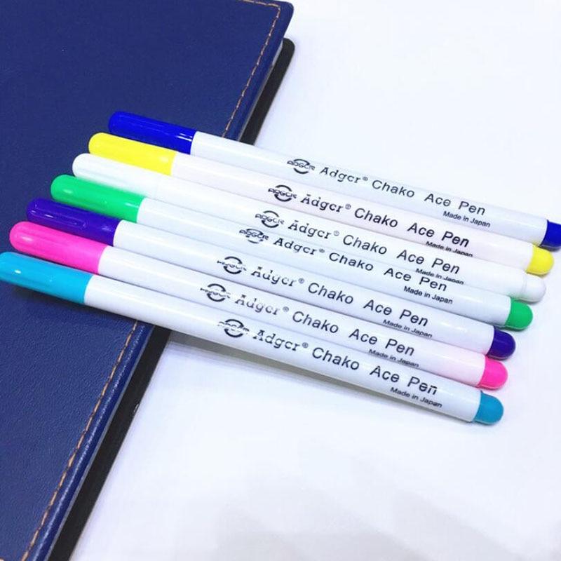 12 piezas Soluble Cruz puntada agua borrable plumas arandela tinta marcador de tela de plumas bricolaje costura casa herramientas púrpura azul rojo
