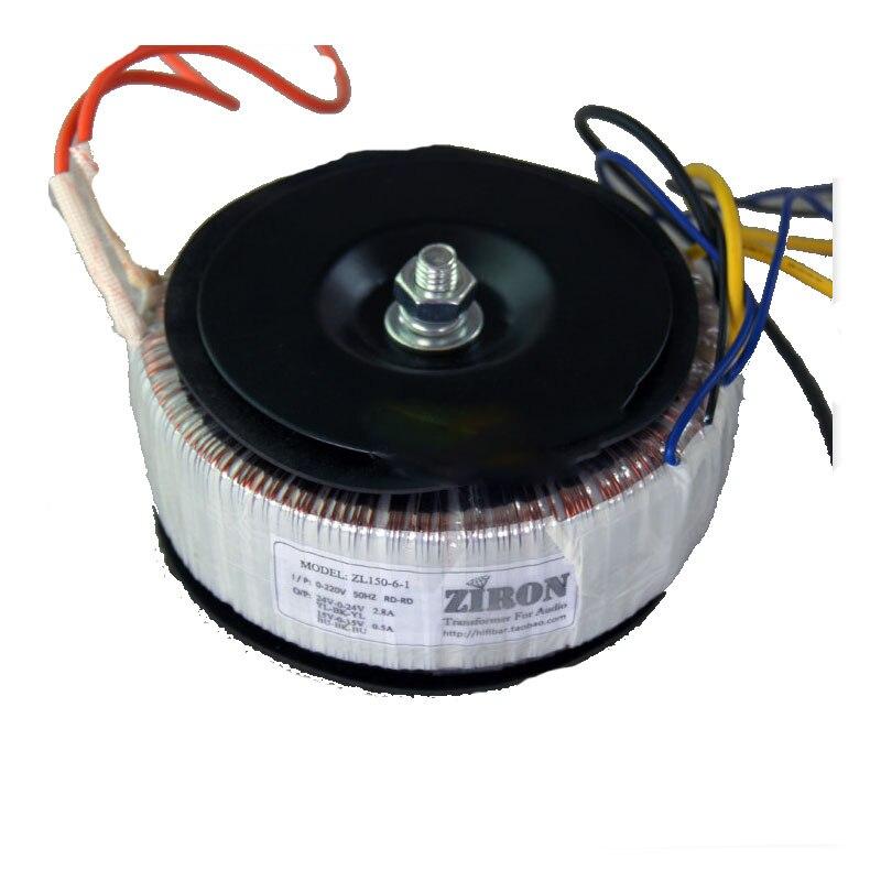 KYYSLB  Dual 24V dual 15V 150W  Home audio transformerpure copper ring power amplifier transformer LM3886/TDA7293/7294 etc
