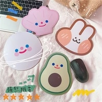 cute avocado rabbit mouse pad student portable notebook pad keyboard protection pad office desktop non slip mini mouse pad