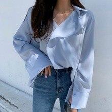 2021 Spring and Summer New Korean Long Sleeve Elegant White Shirt Women's Design Sense Non-mainstrea