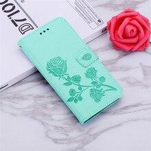 3D Rose En Cuir Imprimé Fleur étui asus Zenfone 2 ZE500CL Z00D 3 Zoom ZE553KL Z01HDA ZE552KL Z012DE Flip Étui Portefeuille