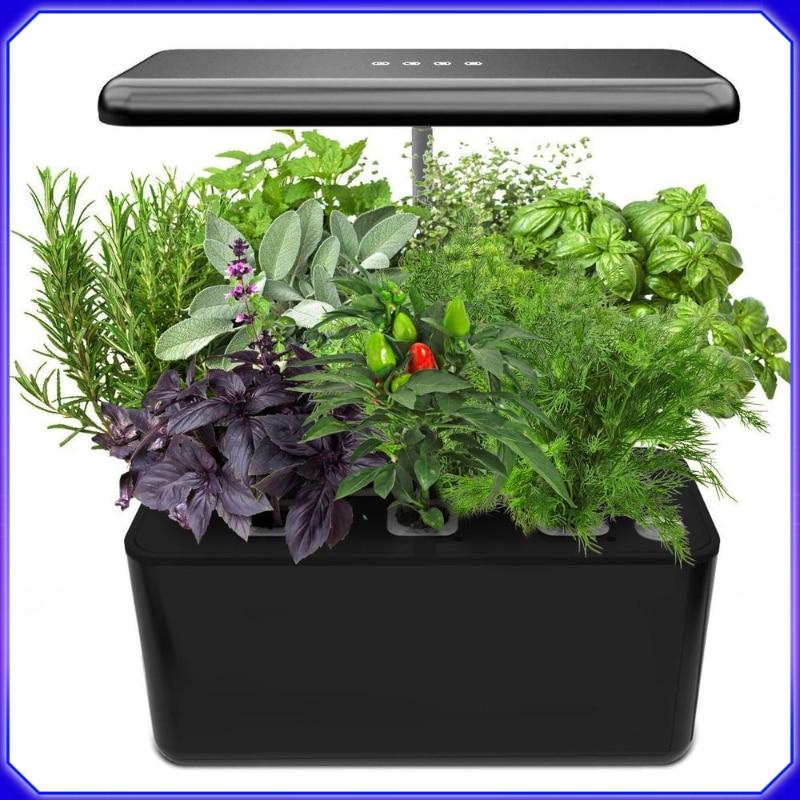 نظام الزراعة المائية ، مجموعة بدء تشغيل الحديقة الداخلية مع ضوء نمو LED ، زارع حديقة ذكي للمطبخ المنزلي ، أوتوماتيكي