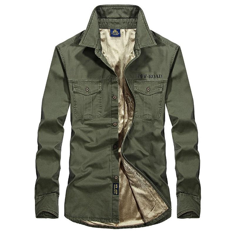 Осенне-зимняя флисовая рубашка, Мужская Толстая теплая Военная Мужская рубашка, мужская рубашка, повседневные хлопковые мужские рубашки ра...