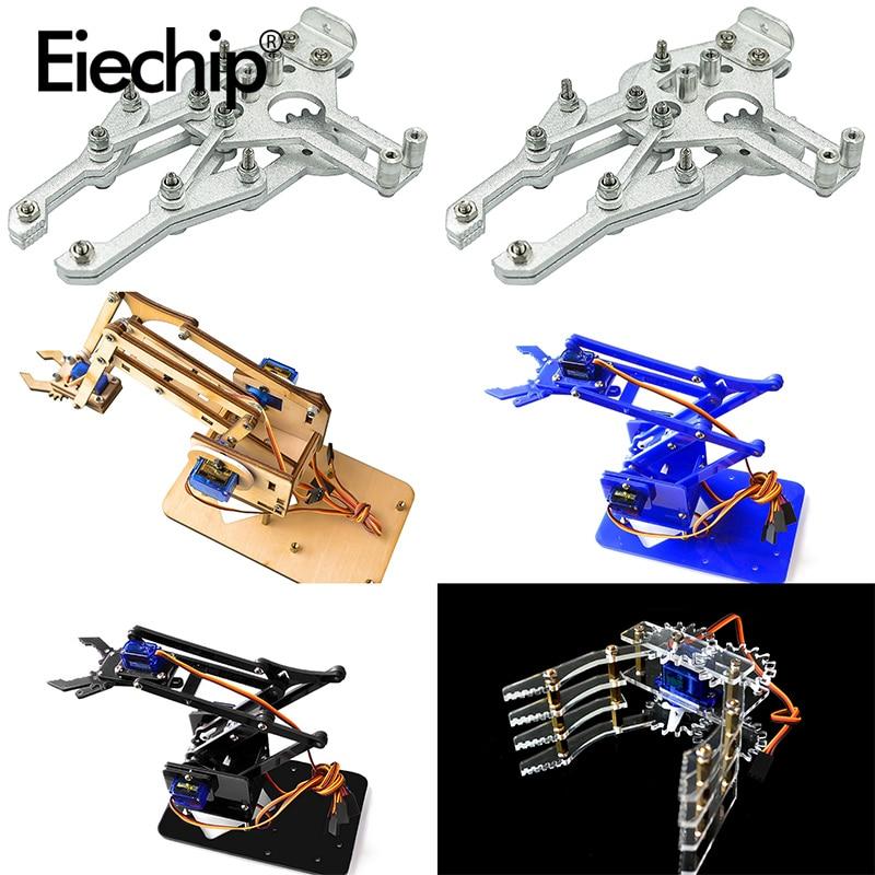 Acrylic Mechanical Arm Robot Manipulator Claw for Arduino Learning DIY Kit Robot