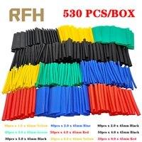 530pcs heat shrink tubing insulation shrinkable tubes assortment electronic polyolefin wire cable sleeve kit heat shrink tubes