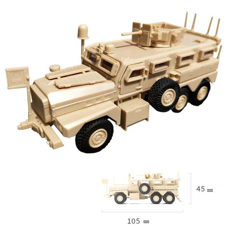 1/72 US Army Cougar 6x6 Mrap vehículo americano moderno militar plástico modelo juguetes regalos