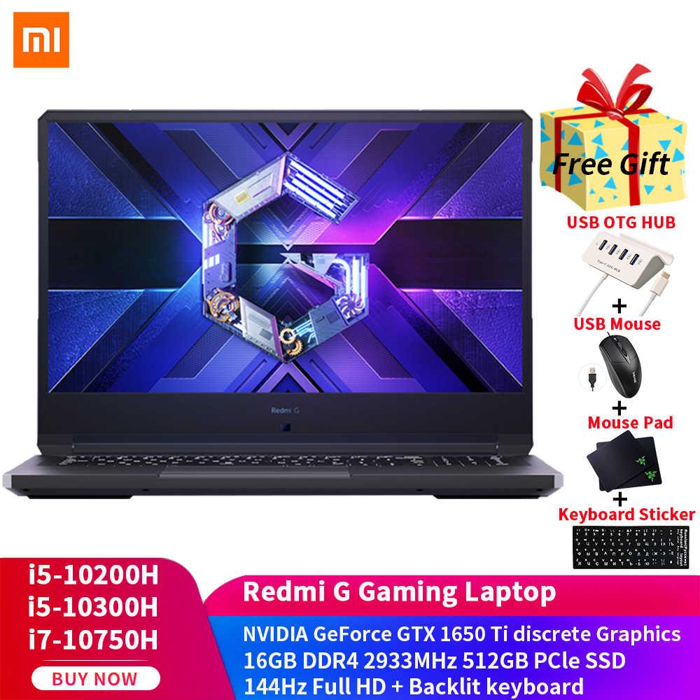 Xiaomi Redmi G Gaming Laptop 16 1 I7 10750h I5 10200h 16gb Ddr4 2933mhz Ram 512gb Pcie 4 Nvme Ssd Wifi 6 Win10 Notebook Laptops Aliexpress