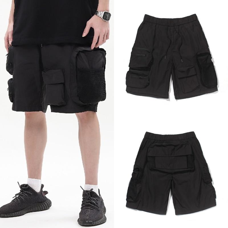 2020ss High Quality RHUDE Shorts Men Woman 1:1 Black Stitching Pockets Sportswear Drawstring Casual Pants Summer Style недорого