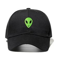 Alien Head Embroidery Women Baseball Cap Cotton Dad Hat Summer Adjustable Snapback Cap Men Fashion Accessories
