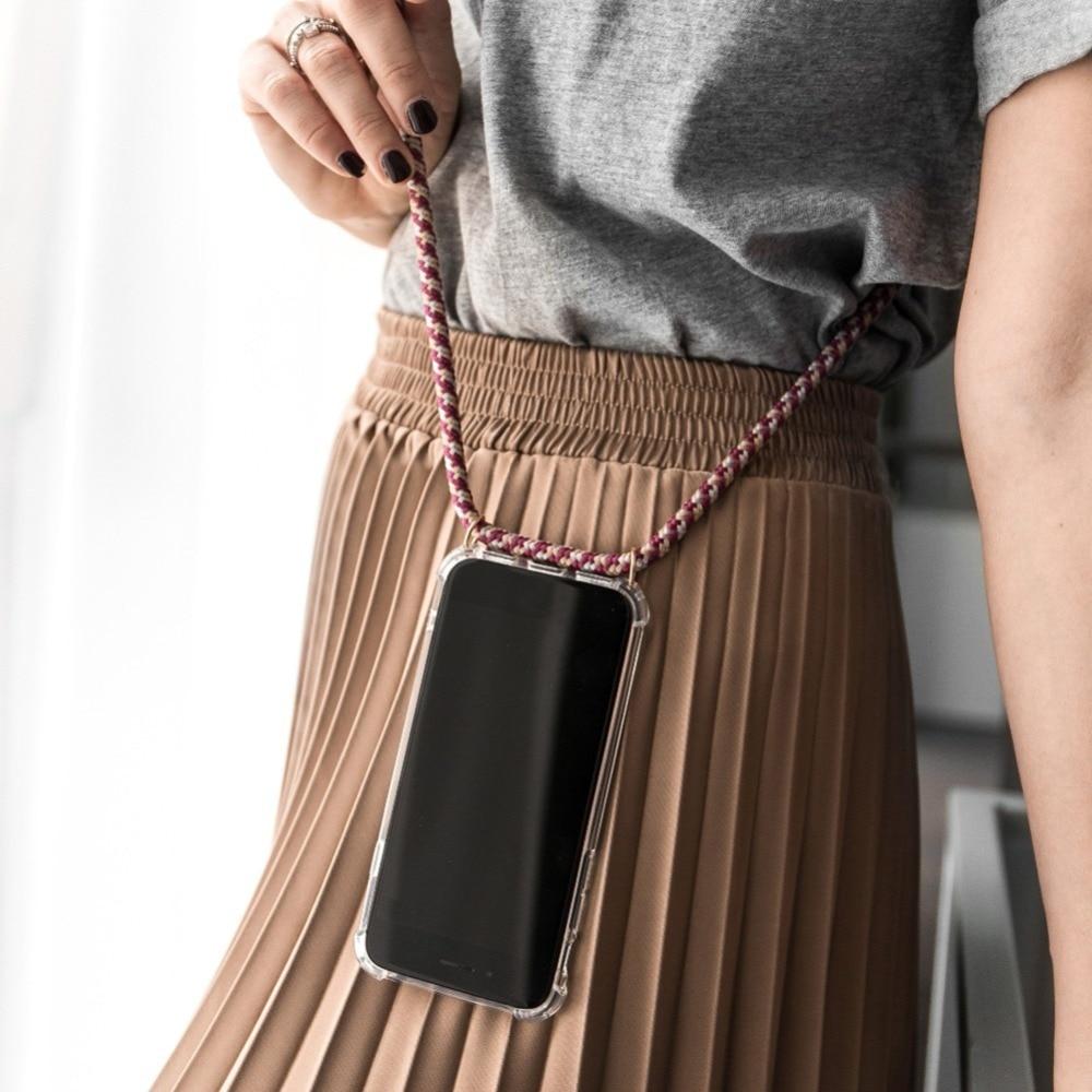 Correa de cadena de cordón caja del teléfono para Nokia 7,1, 8,1,...
