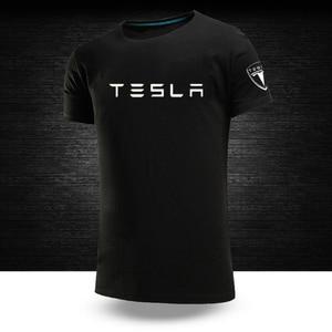 2020 Summer Tesla Tees 12 Color Car Logo Customize Tshirts Male Short Sleeves Man's 100%Cotton Hip Hop College O-Neck Print Tops