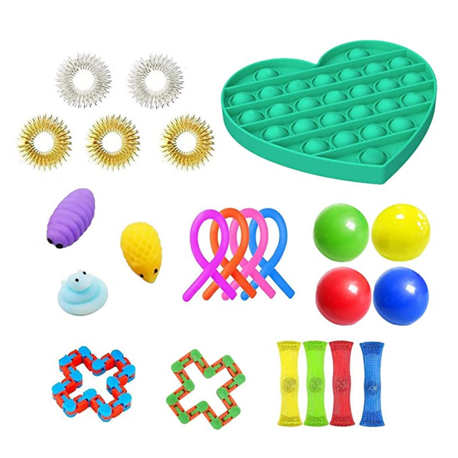 23PCS Simple Dimple Toys Desktop Educational Toy Mathematical Decompression Toy Autism Anxiety Relief Stress Bubble enlarge