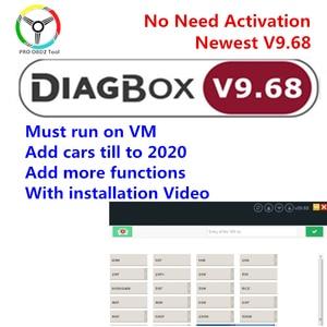 Newest Lexia 3 Lexia 9.68 Diagbox V9.68 PP2000 Software for Lexia 3 FW921815C Diagbox 9.68 for Citroen for Peugeot Car