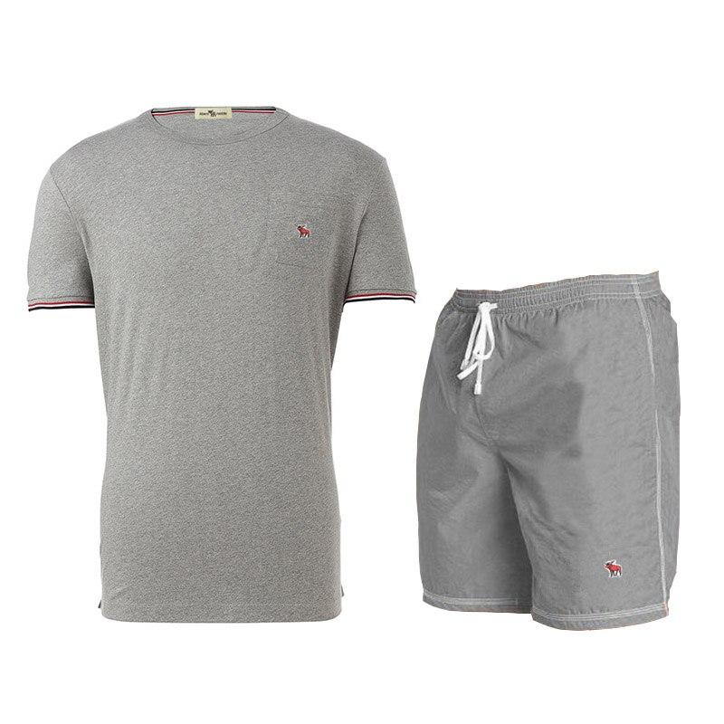 Abercrombie & Fitch- 2 unids/set chándal de los hombres T camisa +...