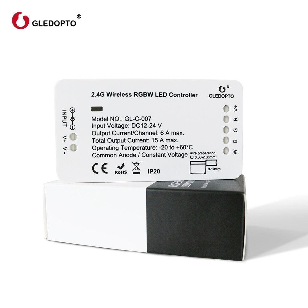 GLEDOPTO ZIGBEE smart Led hogar RGBWW controlador para tira LED compatible con Eco plus zigbee 3,0 hub smartthings DC12-24V LED