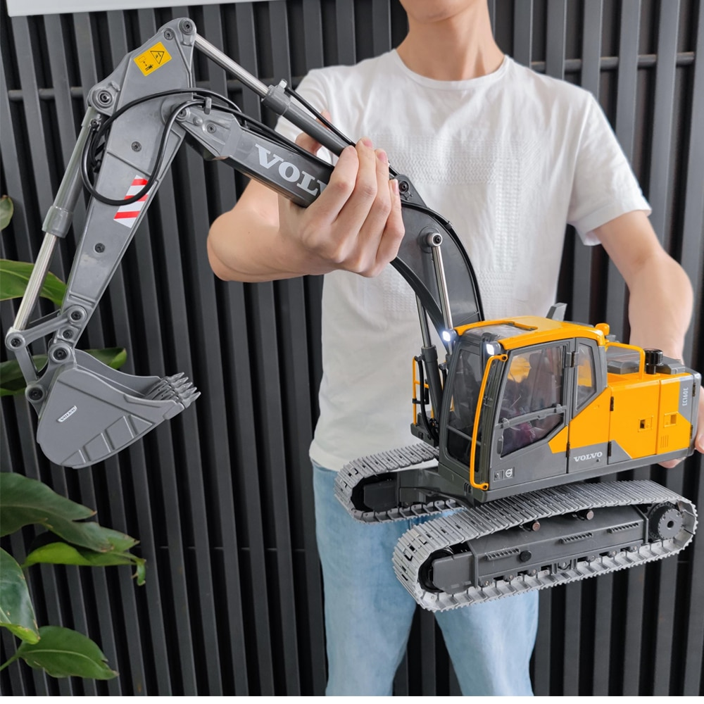 Double E VOLVO E010 EC160E 1:14 RC Excavator 2.4G Remote Control Dump Truck Caterpillar Engineering Vehicle Model Toys For Boys