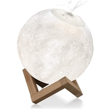 Moon Light Humidifier, 3D Printing 3 Colors Moon Lamp with Stand, Cool Mist Humidifier USB Rechargea