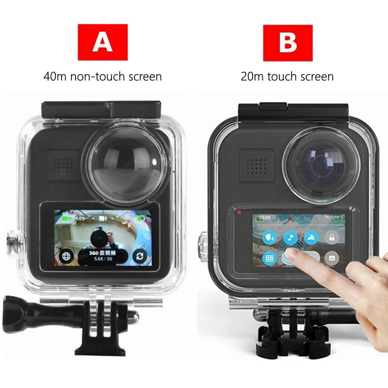 20m/40m para GoPro Max carcasas impermeables carcasa funda protectora caja para Go Pro 360 cámara panorámica accesorios de buceo