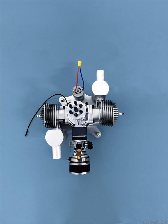 Motor de gasolina 170-E UAV, doble cilindro, motor de avión de ala fija, modelo de motor de avión paramotor