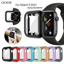 Housse de montre pour apple Watch 5 44mm 40mm Iwatch boîtier série 4 3 2 1 38mm 42mm tout compris protecteur décran housse en TPU