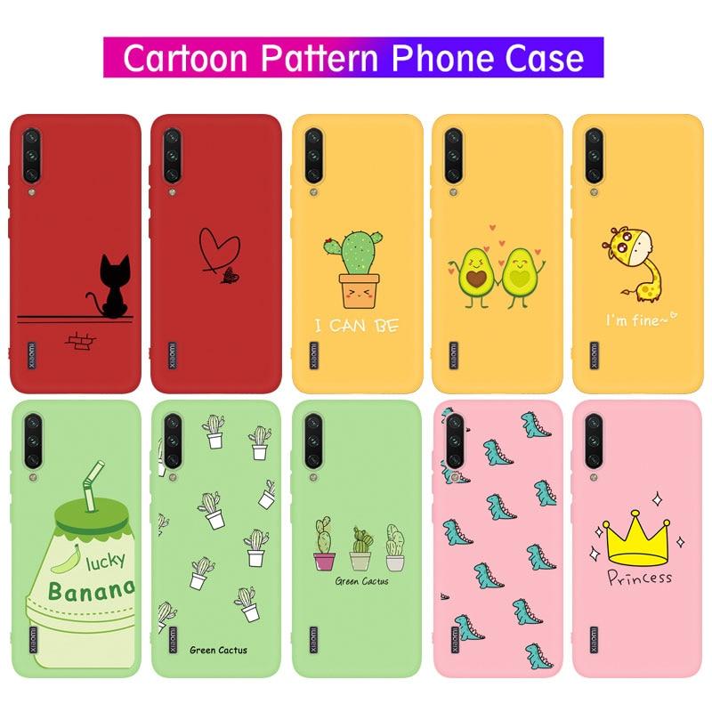 For Xiaomi Mi 9 SE 9T Pro A3 Lite Poco F2 CC9 Pro Case Cute Dinosaur Cactus Heart Pattern Phone Case for Xiaomi mi 9 t mi9 t pro