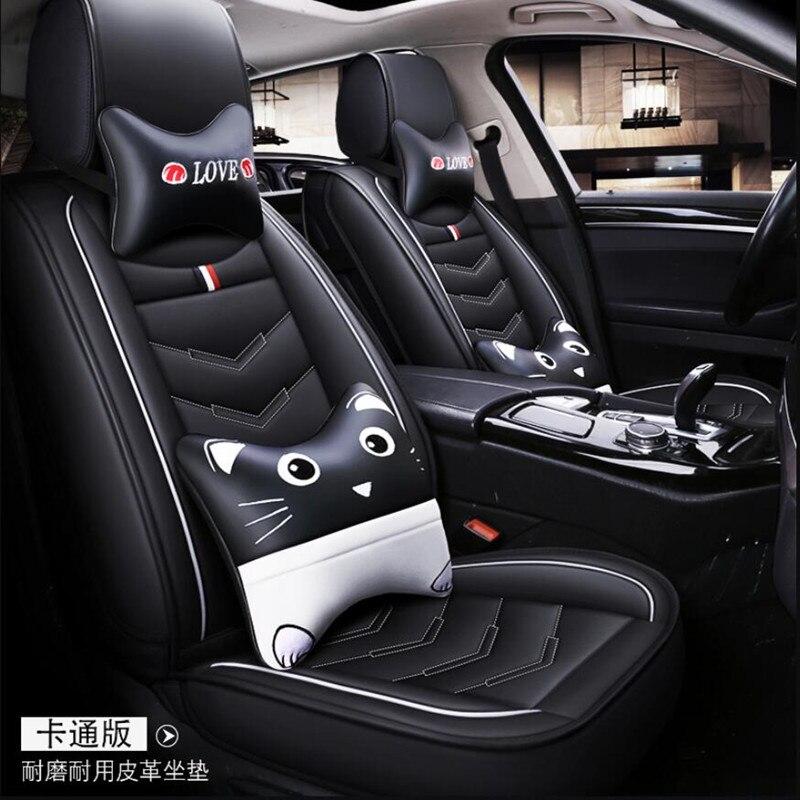 Funda de asiento de cuero PU de alta calidad para Hyundai accent 2007 2010 creta azul ix25 ix 25 elantra 2012 2013 2017 Grand Santa