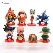 8 unids/set Bola de Dragón Z deformación chichi Son Goku maestro Roshi Gogeta Gotenks Oolong PVC figura de juguete coleccionable 4-7cm KT4141