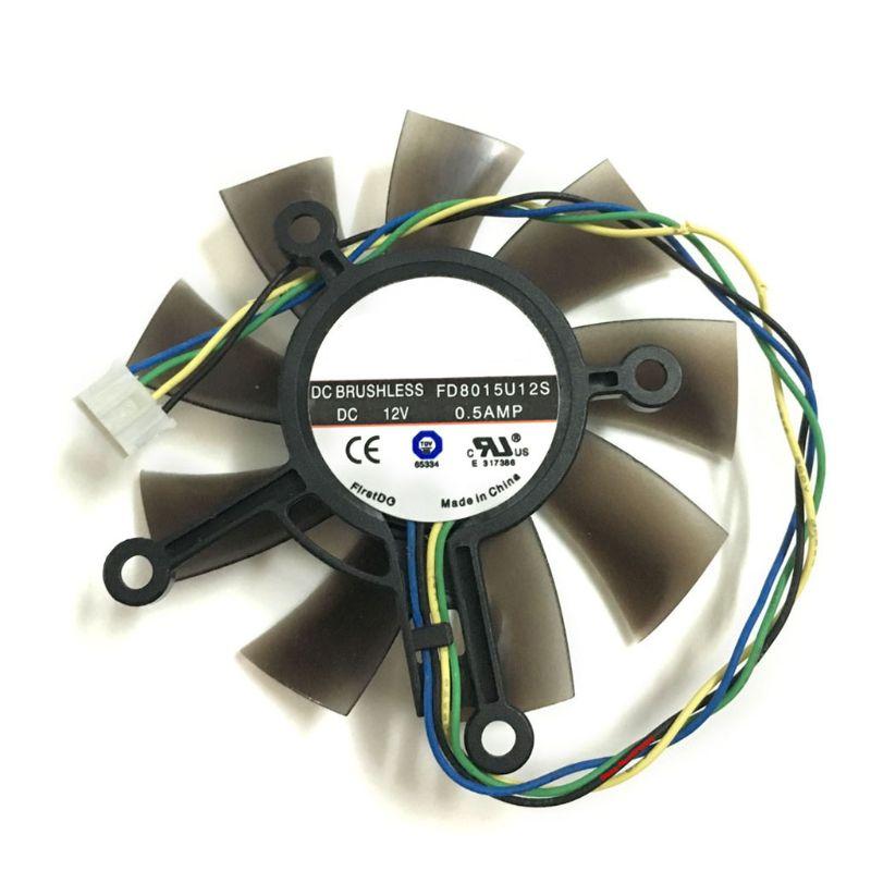 [해외] 75MM FD8015U12S DC12V 0.5AMP 4PIN 쿨러 팬, ASUS GTX 560 GTX550Ti HD7850 그래픽 비디오 카드 냉각 팬
