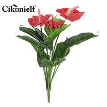Rare fleur Anthurium bonsaï balcon en pot plante bonsaï rouge Anthurium fleurs Bouquet mariage maison jardin décor