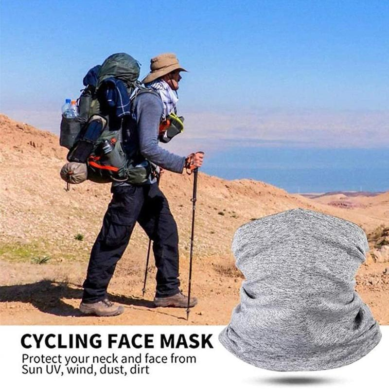 Outdoor Sport Bandana Tube Fishing Cycling Running Hiking Hunting Headband Ski Scarf Face Gaiter Bicycle Neck Warmer Shield C8U6