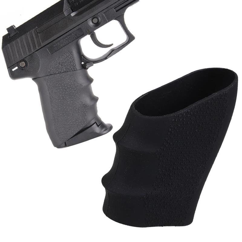 Magorui glock luva de borracha antiderrapante (universal) se encaixa para glock17 19 20 26, s & w, sigma, sig sauer, ruger, colt, beretta
