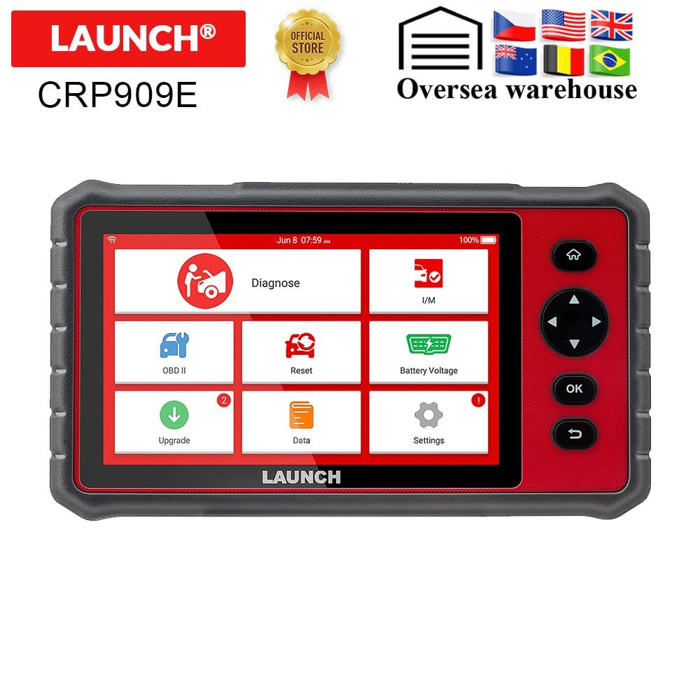 LAUNCH X431 CRP909E OBD2 escáner de diagnóstico de coche profesional OBD2, escáner Airbag SAS TPMS EPB IMMO, lector de códigos para automóvil CRP909