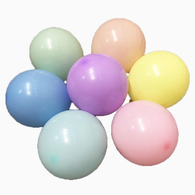 100 pzas/lote, 5/10 pulgadas Macaron globos ducha chica globos de látex dulces de cumpleaños Ballon Decoración Para celebración de boda globo cadena globo