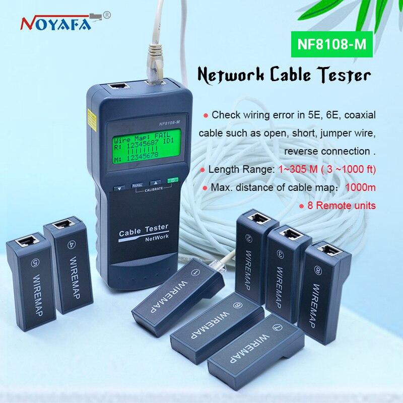 NF_8108M тестер длины кабеля RJ45 RJ11 USB сетевой кабель тестер Измеритель NF8108-M
