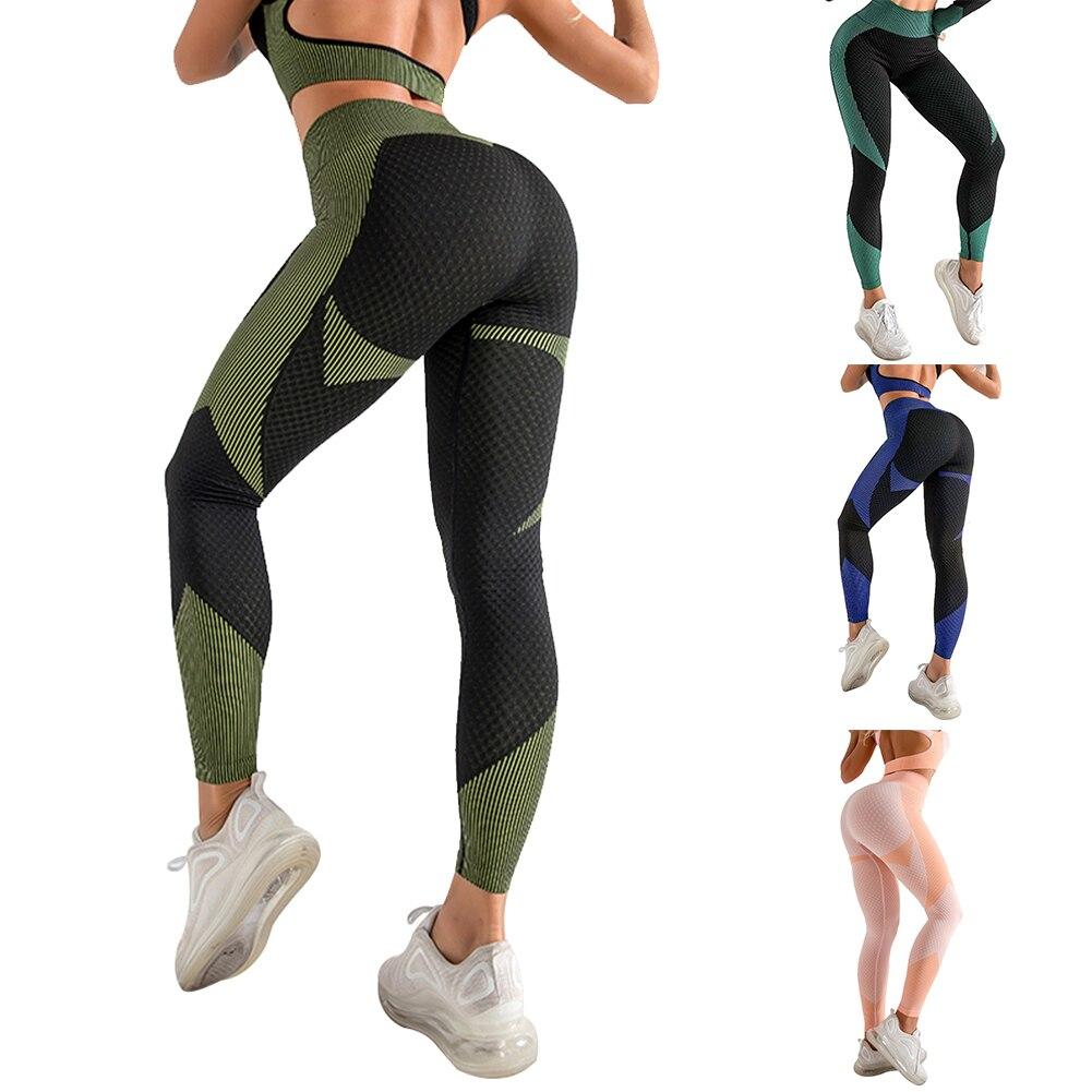 Pantalones de Yoga de cintura alta mallas sin costuras para mujer, mallas de entrenamiento para el Control de la panza, ropa de entrenamiento súper elástica para levantar la cadera