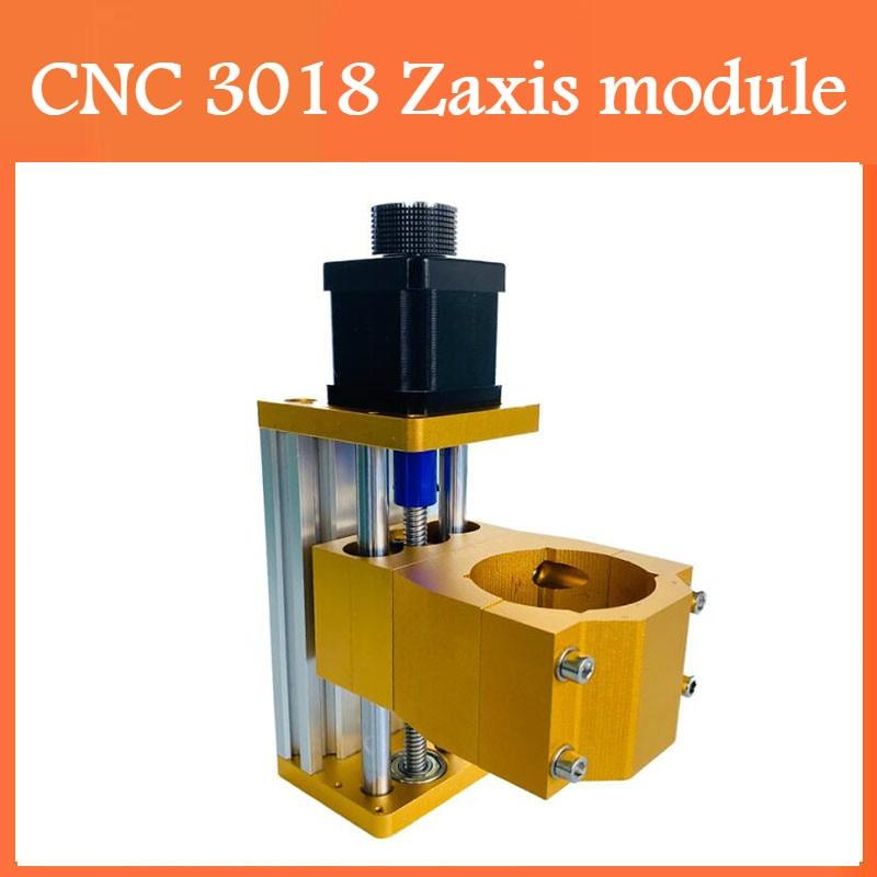 Cnc 3018 máquina zaxis módulo suporte 300w/500w eixo 52mm de diâmetro de alumínio z-eixo mesa deslizante aplicar 42hs48mm motor deslizante