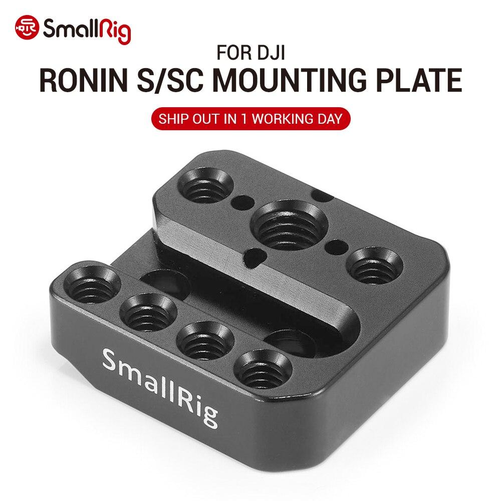 Placa de montaje de cámara SmallRig para DJI Ronin S y para Ronin-SC con carril Nato Arri orificios de localización Fr Magic Arm Handle Attach 2214
