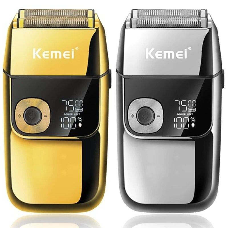 الأصلي kemei الحلاق المهنية اللحية ماكينة حلاقة للشعر للرجال ماكينة حلاقة كهربائية قابلة للشحن الكهربائية الحلاقة البالات ماكينة حلاقة
